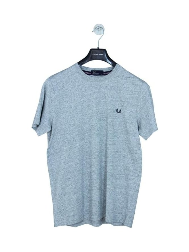 Fred Perry Crew Neck Logo T.Shirt - Steel Marle