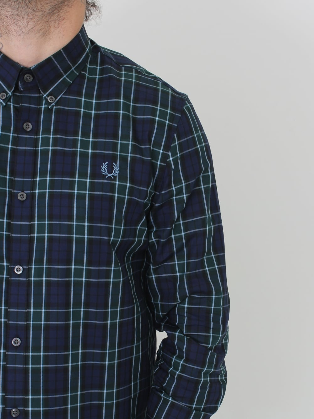 15beadf0 Fred Perry Enlarged Tartan Shirt in Navy - Northern Threads