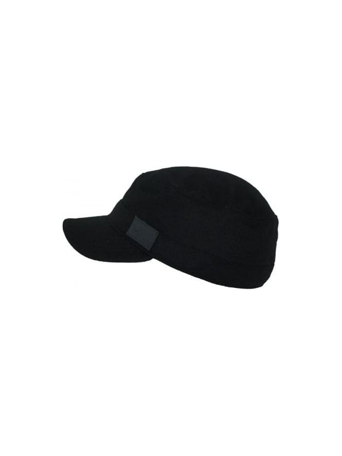 Fred Perry - Fred Perry Wool Military Cap - Black - Fred Perry hats ... 50c1dc85bf1f