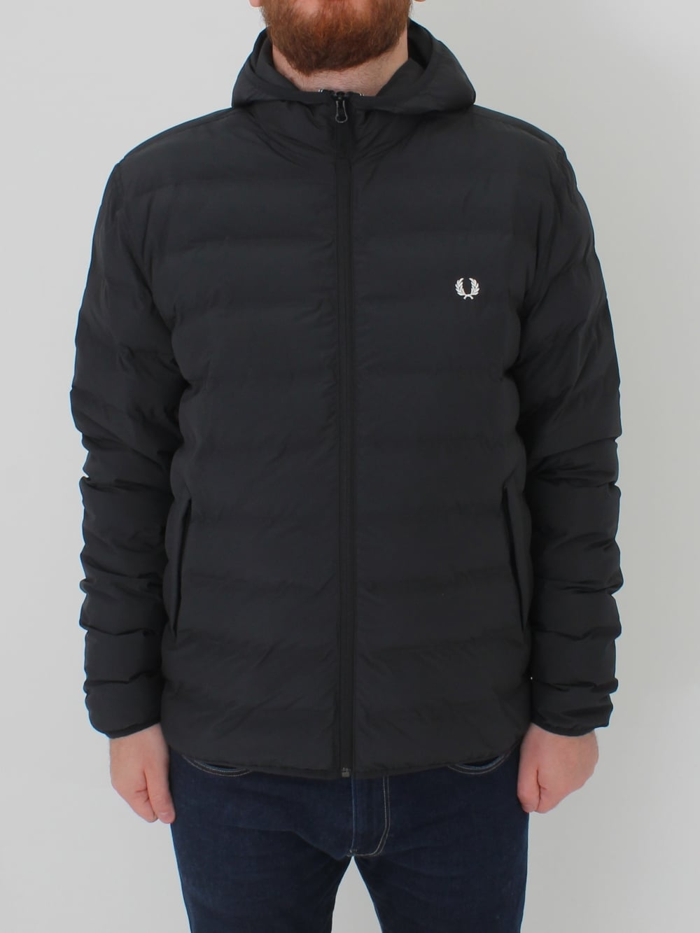fred perry insulated brentham jacket in black northern threads. Black Bedroom Furniture Sets. Home Design Ideas