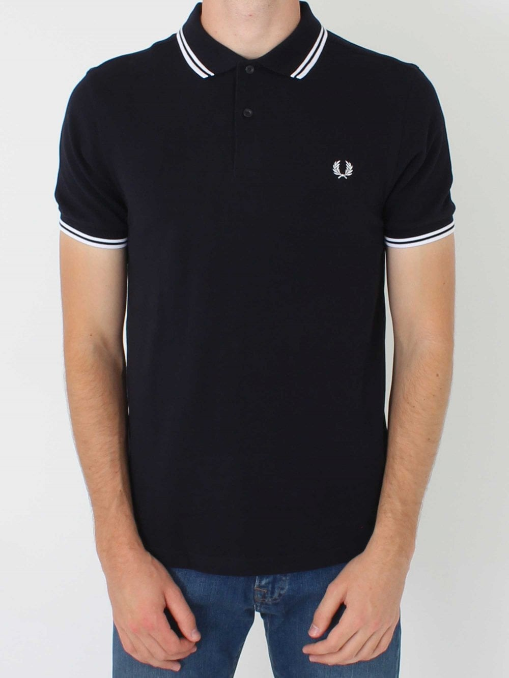 21280c7aee3d Fred Perry M3600 Twin Tipped Classic Polo in Navy/White
