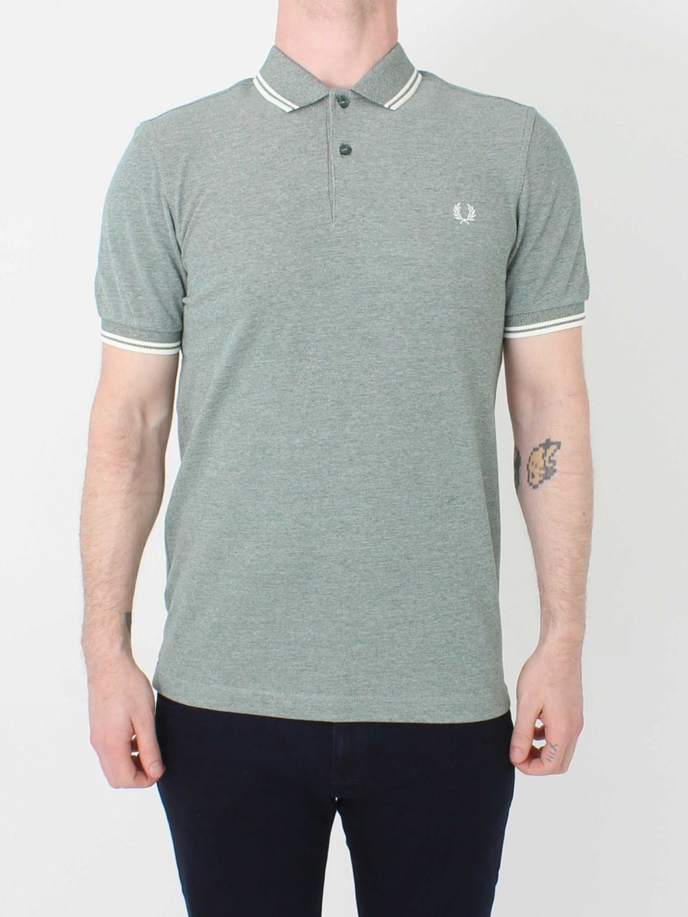 9d32e521 Fred Perry M3600 Twin Tipped Polo in Ivy Oxford | Northern Threads