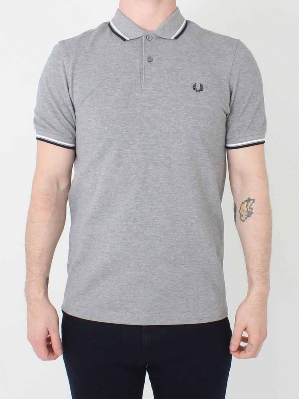 c3825acc Fred Perry M3600 Twin Tipped Polo in Steel Marl | Northern Threads