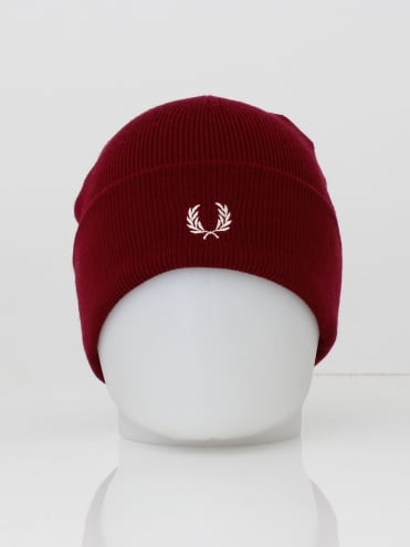 Merino Wool Beanie - Dark Red