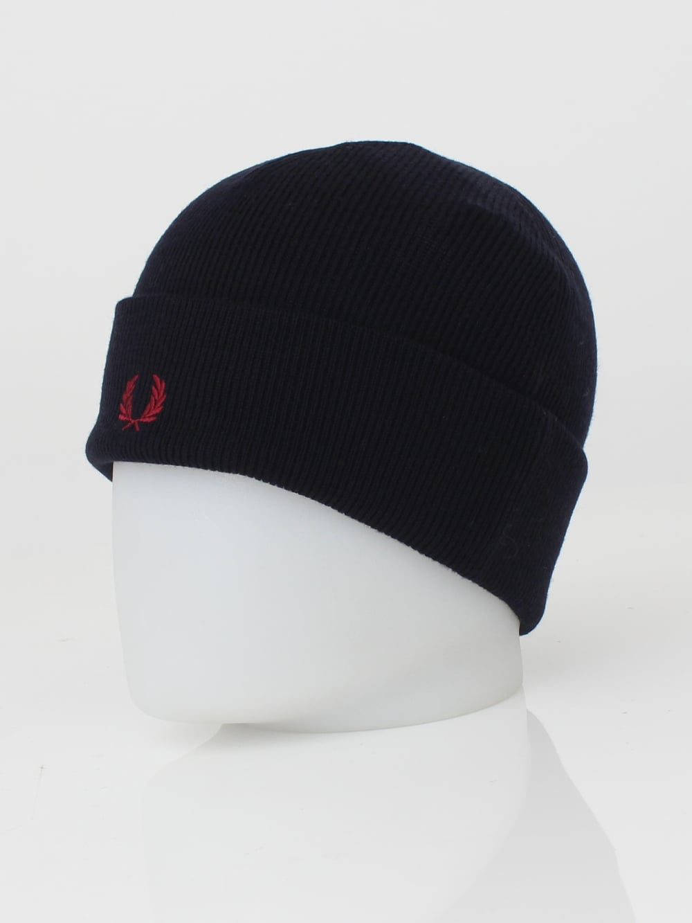 8a0d258c648 Fred Perry Merino Wool Beanie in Navy - Northern Threads
