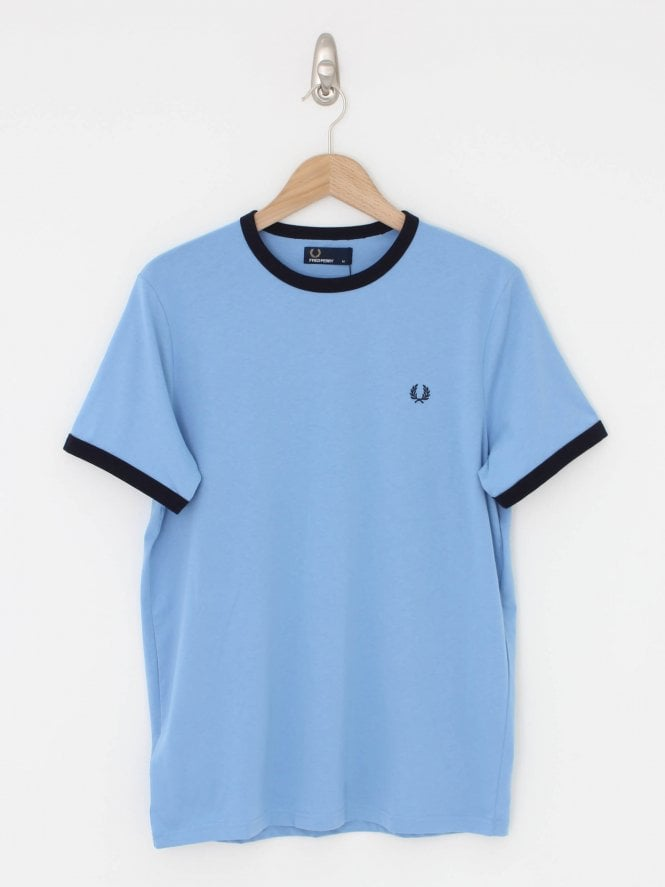 Fred Perry Ringer T.Shirt - Sky