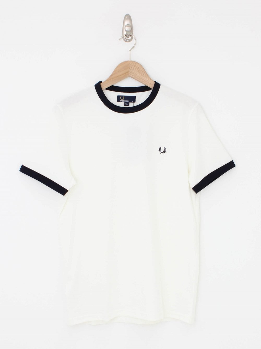 afdbaac0 Fred Perry Ringer T.Shirt in Snow White   Northern Threads