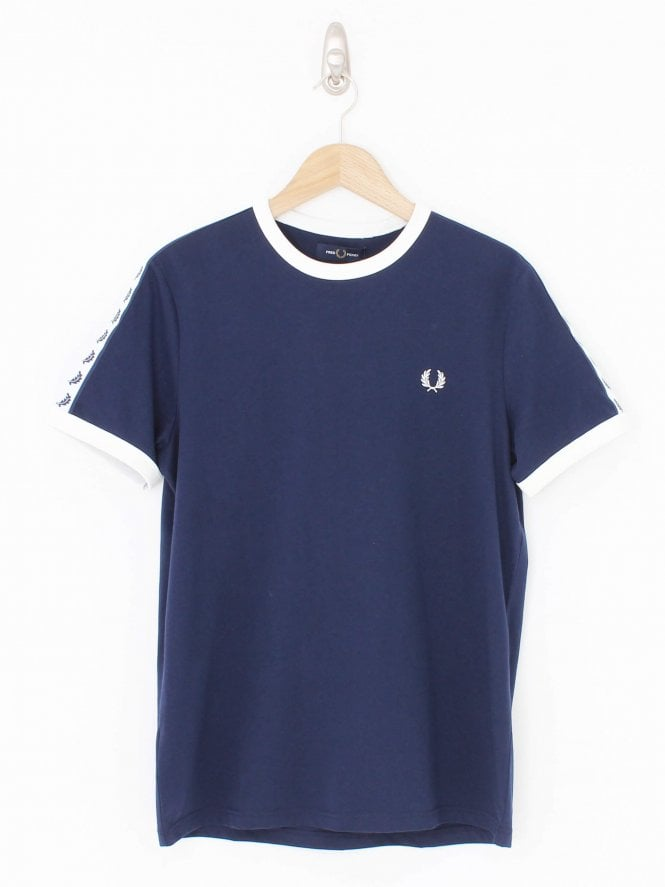 Fred Perry Taped Ringer T.Shirt - Carbon