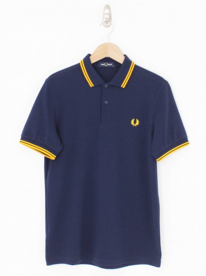 Fred Perry Twin Tipped Logo Polo - Carbon