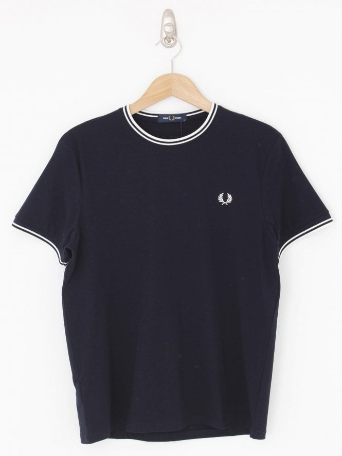 Fred Perry Twin Tipped T.Shirt - Navy