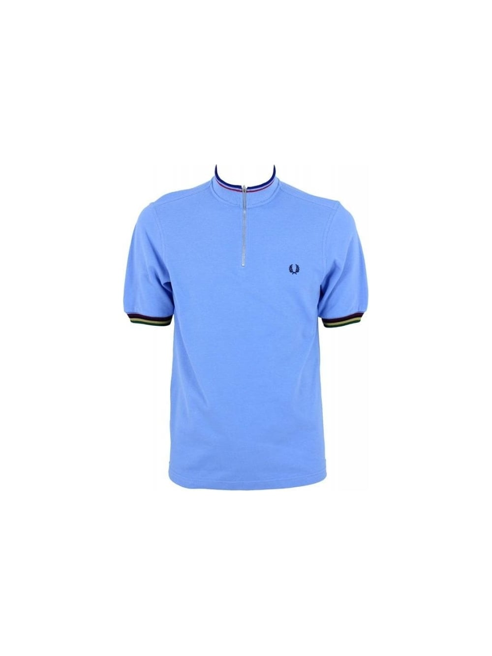 Fred Perry Bradley Wiggins Cycling Shirt in Utility Blue - Northern ... d683109ad