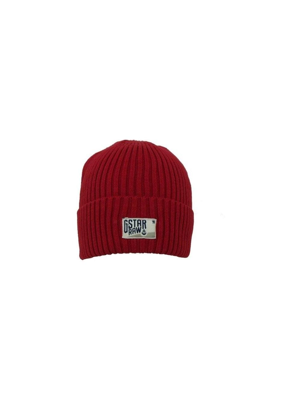 G-Star Jordan Beanie Hat in Red - Northern Threads c9c0e7b13ece