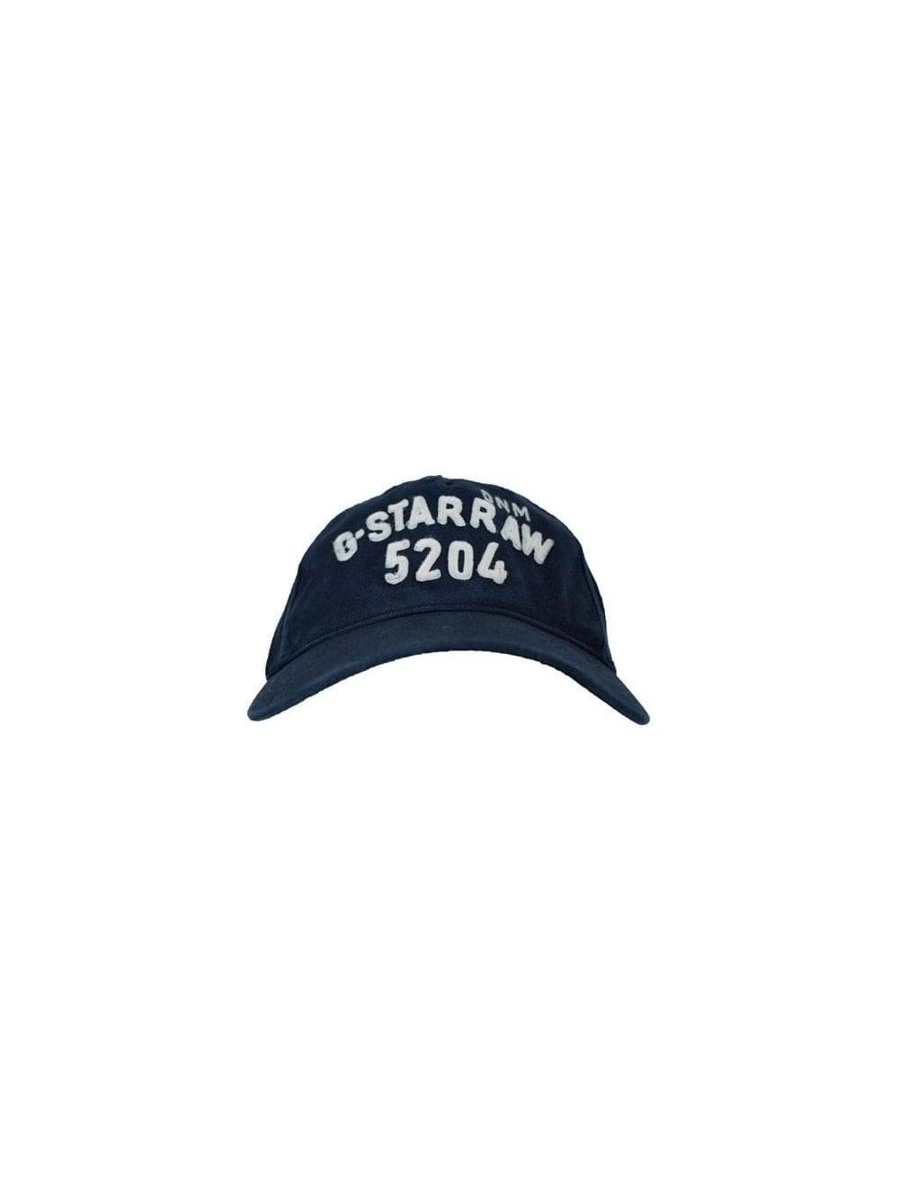 G Star Raw Robert Baseball Cap - Dark Navy - Mens Designer Caps at ... 17e0649672d