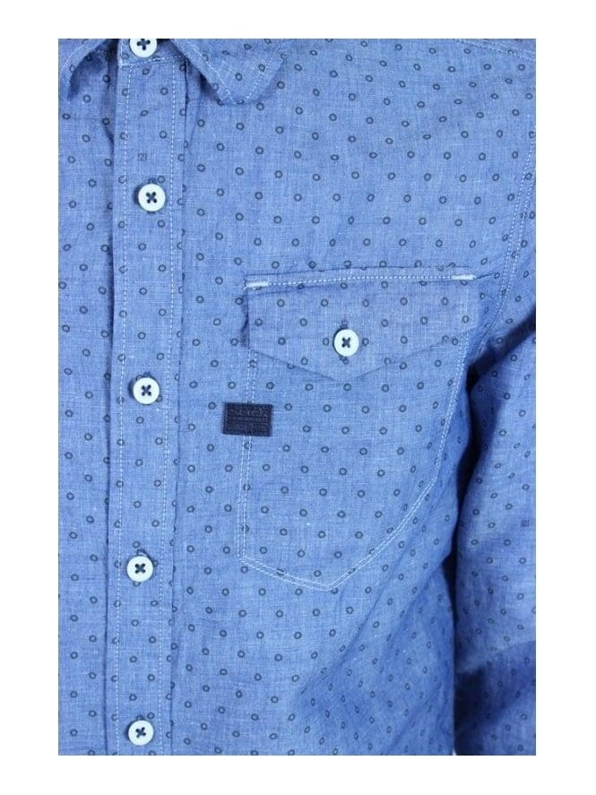 17a139fdc08 G.Star Tacoma Riveted Print Shirt in Chambray - Northern Threads