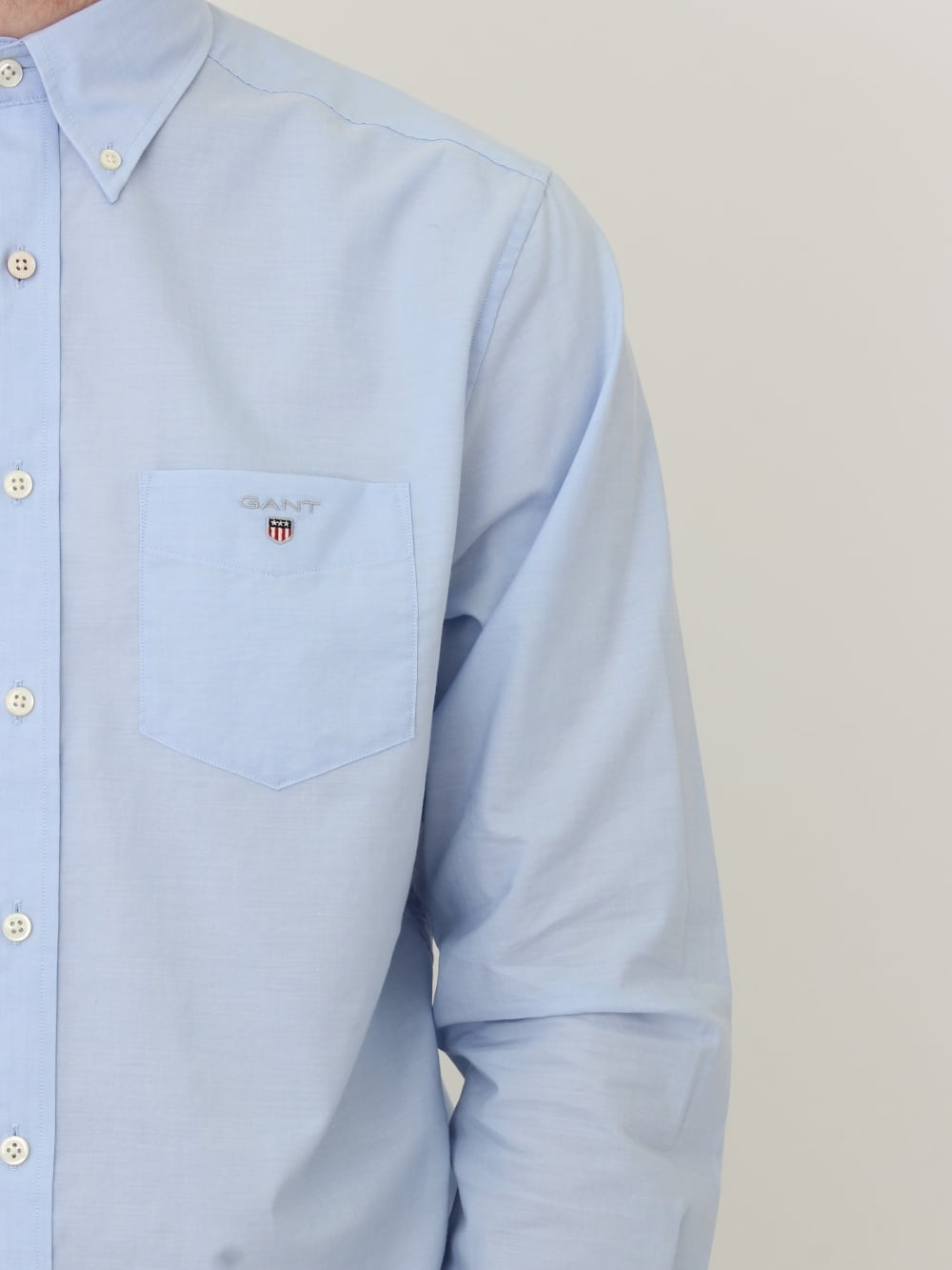 0cacc44737a Gant Broadcloth Button Down Shirt in Hampton Blue - Northern Threads