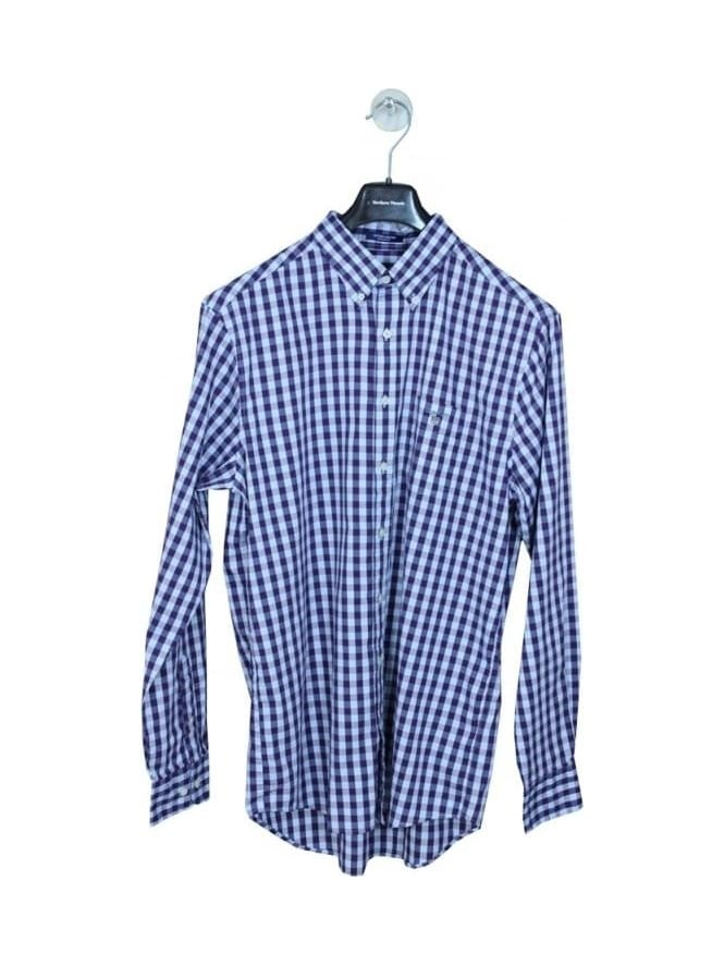 GANT Heather Oxford Gingham Shirt - Grape