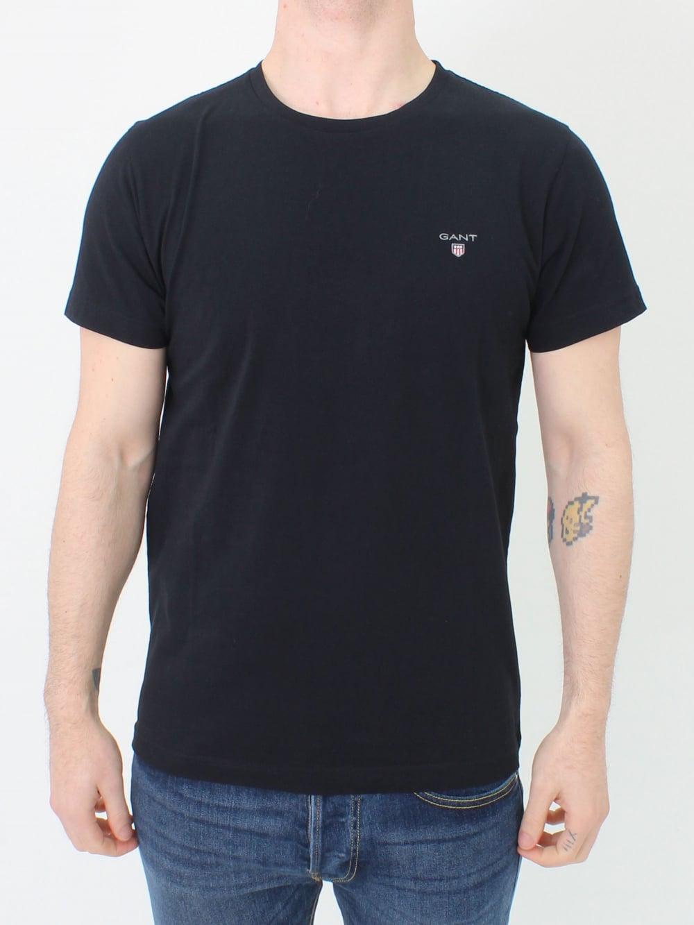 3905301d720 GANT Original Crew Neck T.Shirt in Black   Northern Threads