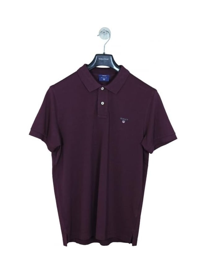 GANT Original Pique Rugger Polo - Purple Fig