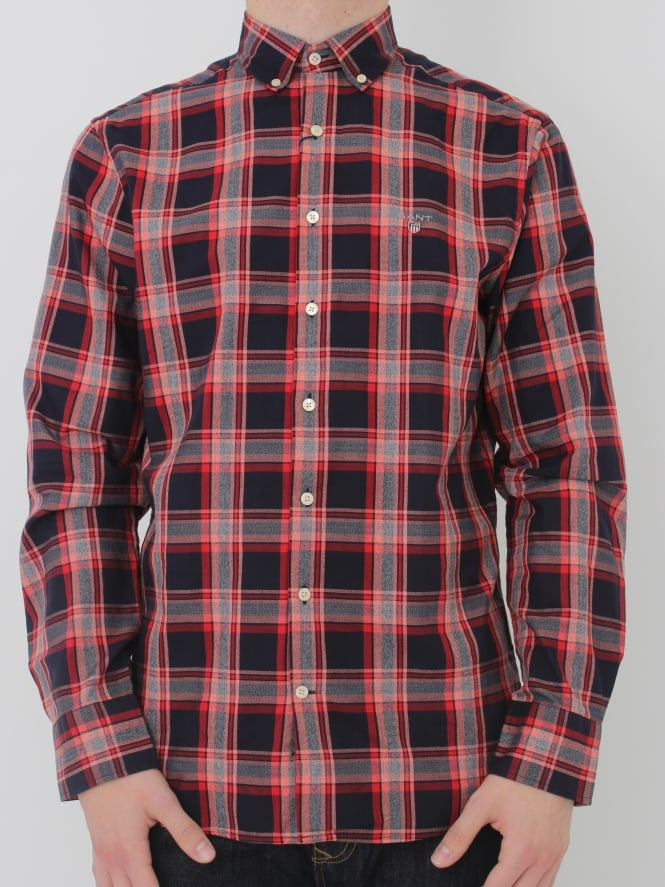 GANT Tech Prep Oxford Check Shirt - Red