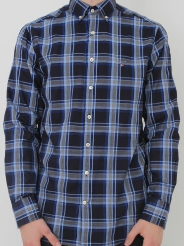 Tech Prep Oxford Check Shirt - Yale Blue
