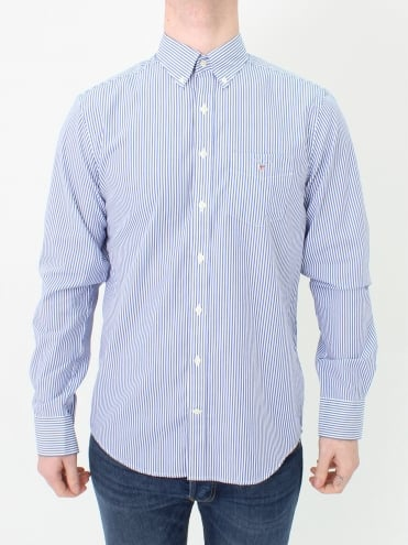 The Broadcloth Banker Shirt - Yale Blue