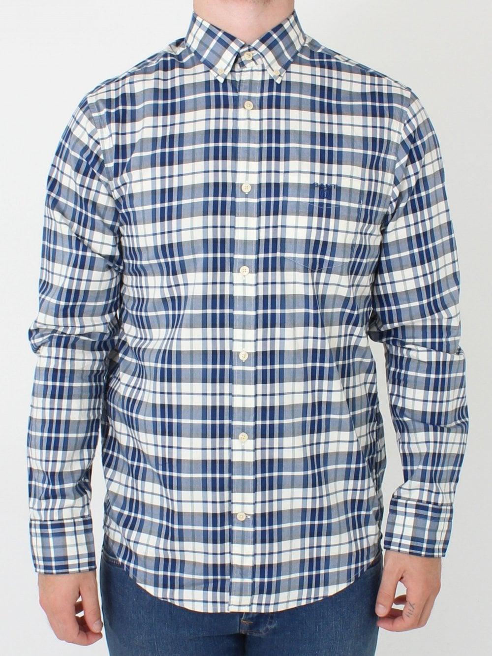 842086ecbec GANT Winter Twill Plaid Shirt in Cream | Northern Threads