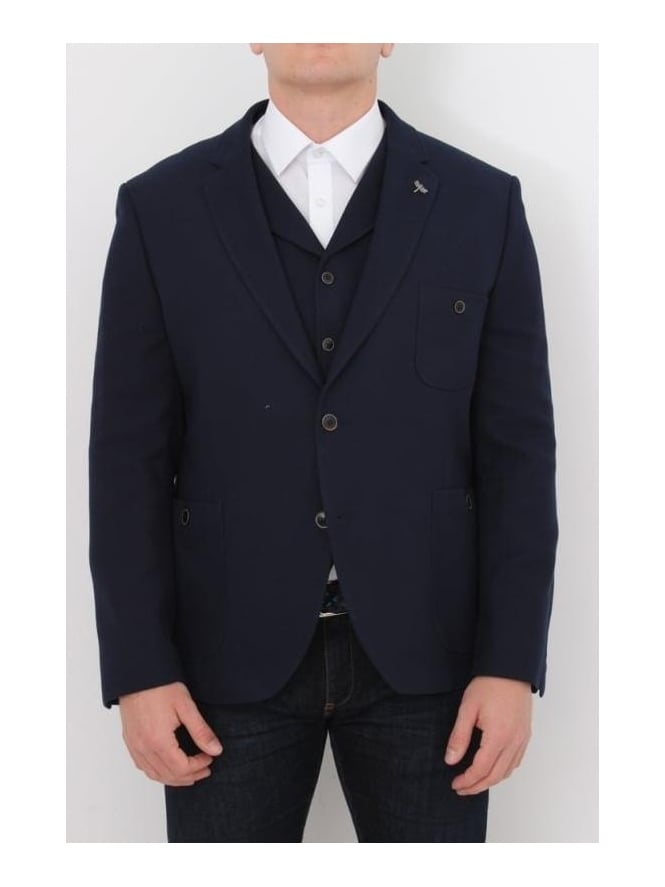 Gibson London Button Pocket S/B Jacket - Navy
