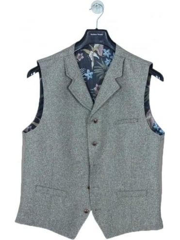 Gibson London Donegal Flec Waistcoat - Sand