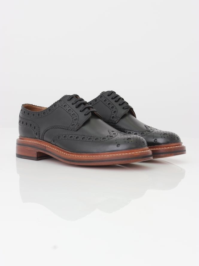 Grenson Archie Big Punch Brogue - Black
