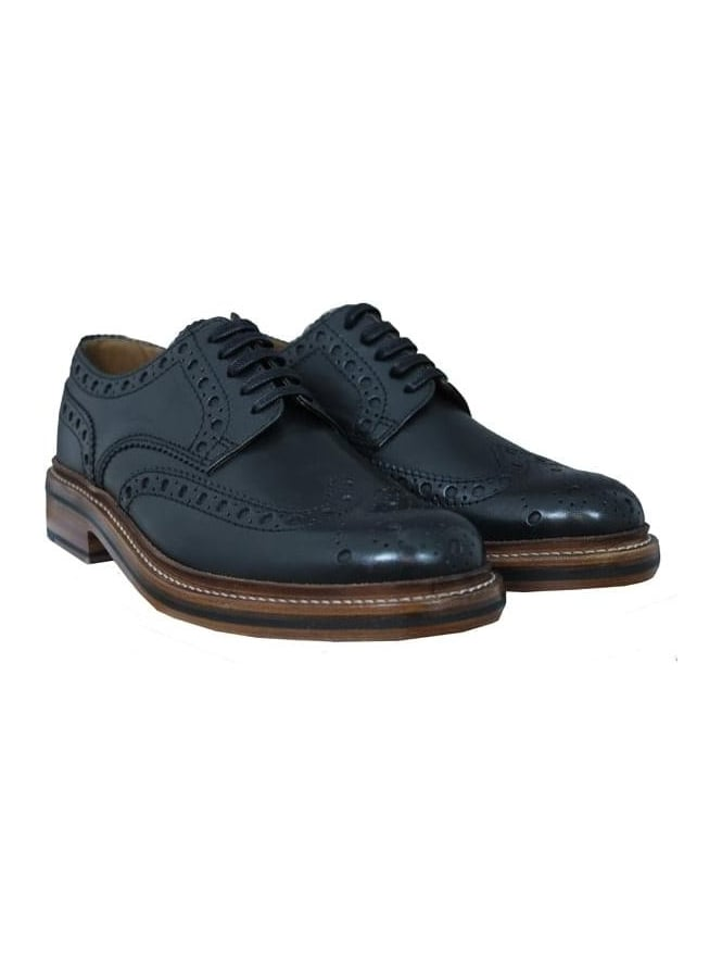 Grenson Archie Big Punch Calf Brogue - Black