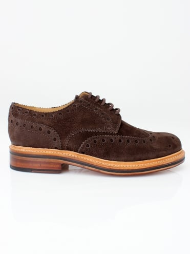 Archie Nubuck Brogue - Dark Brown