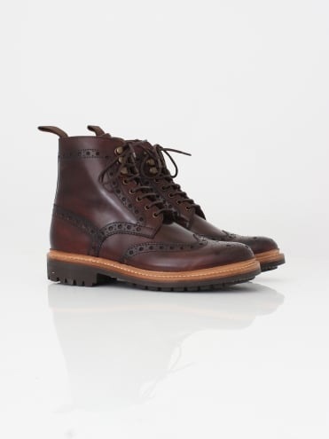 Fred Handpainted Brogue - Dark Brown