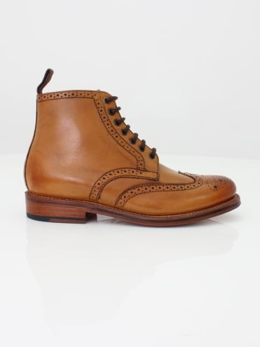 Sharp Brogue Boot - Tan