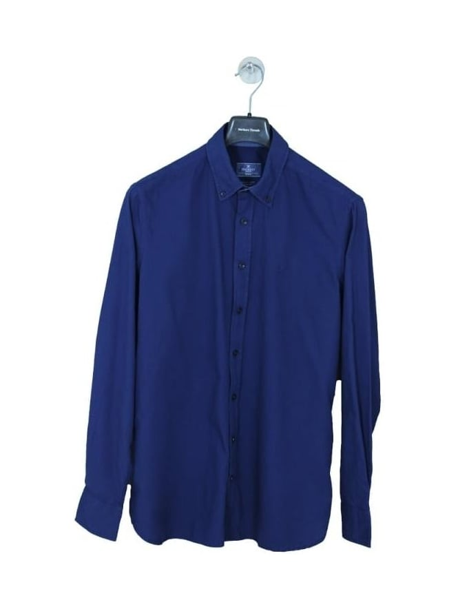 Hackett Garment Dyed Oxford Slim Shirt - Navy