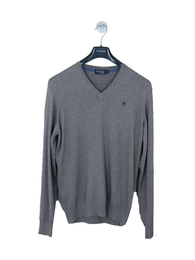 Hackett Pima Vee Neck Knit - Taupe