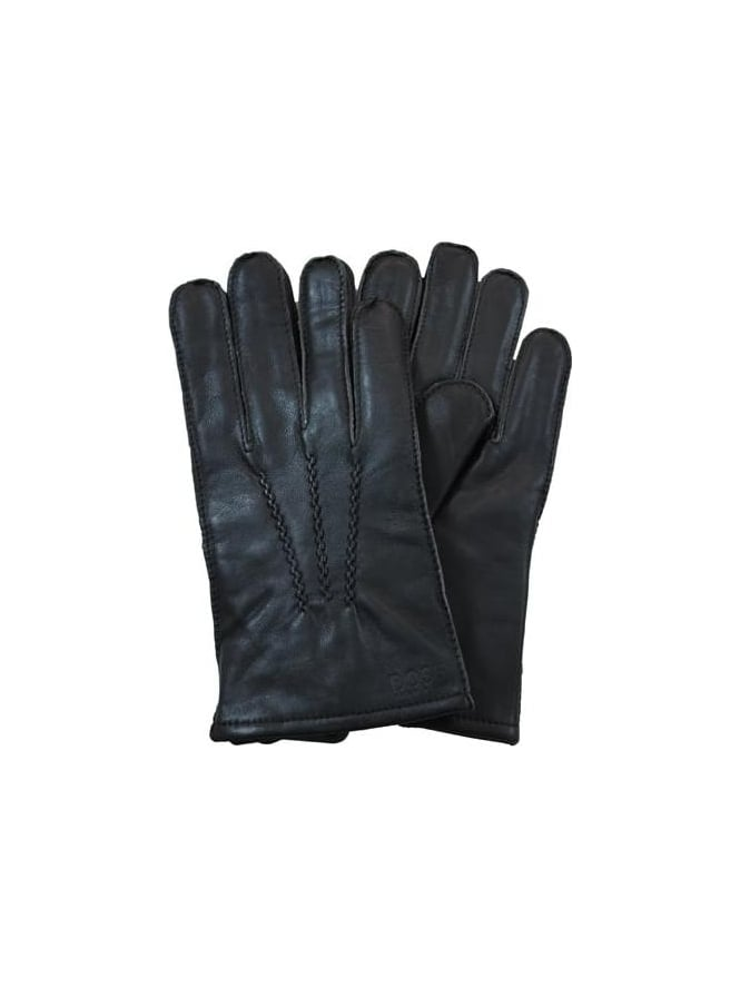BOSS Haindt Leather Gloves - Brown