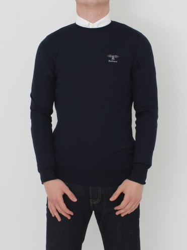 Harley Crew Neck Knit - Navy