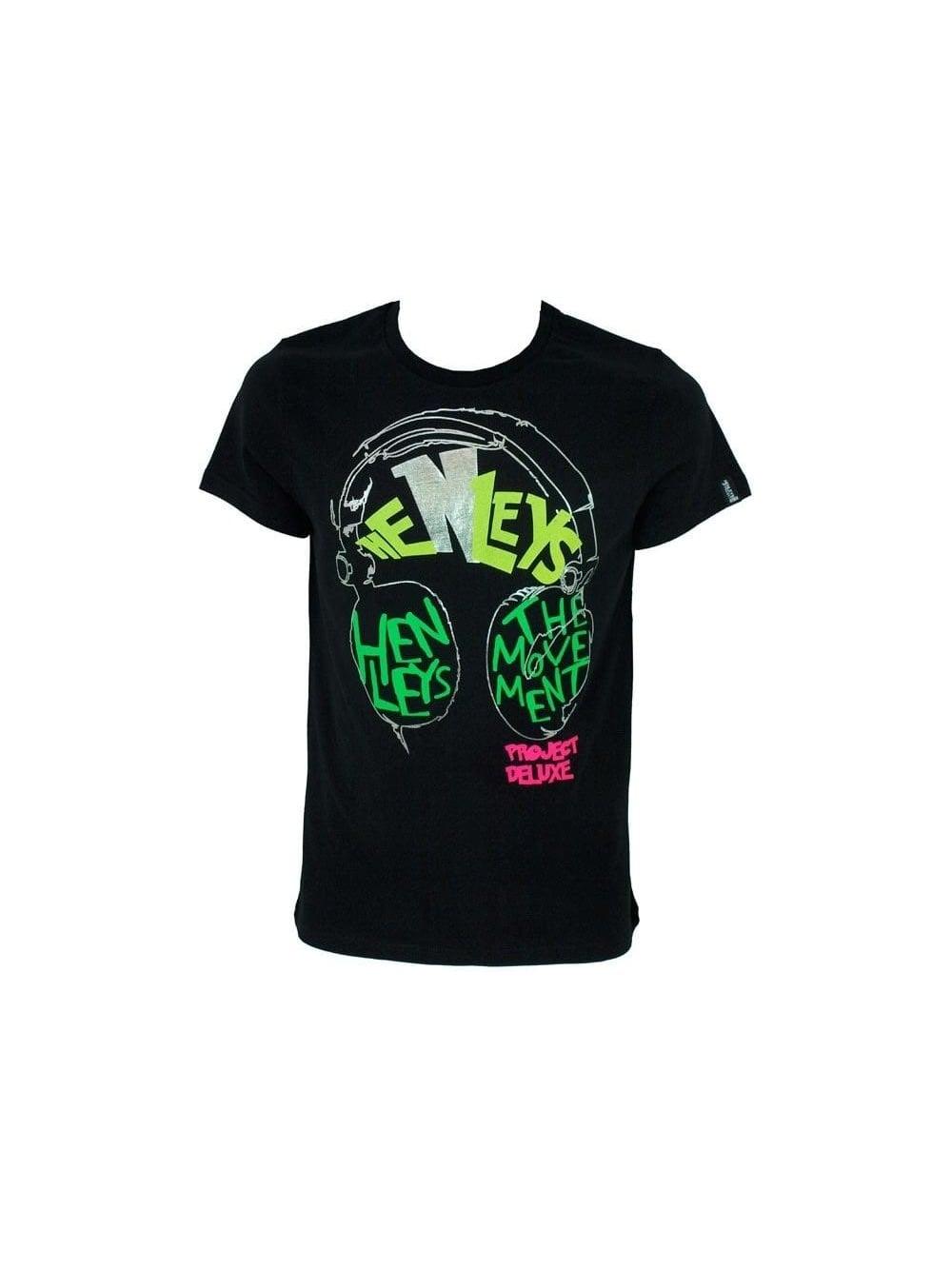 192d4118087 Henleys - Henleys Stelio Print T-Shirt - Black - Henleys Mens ...