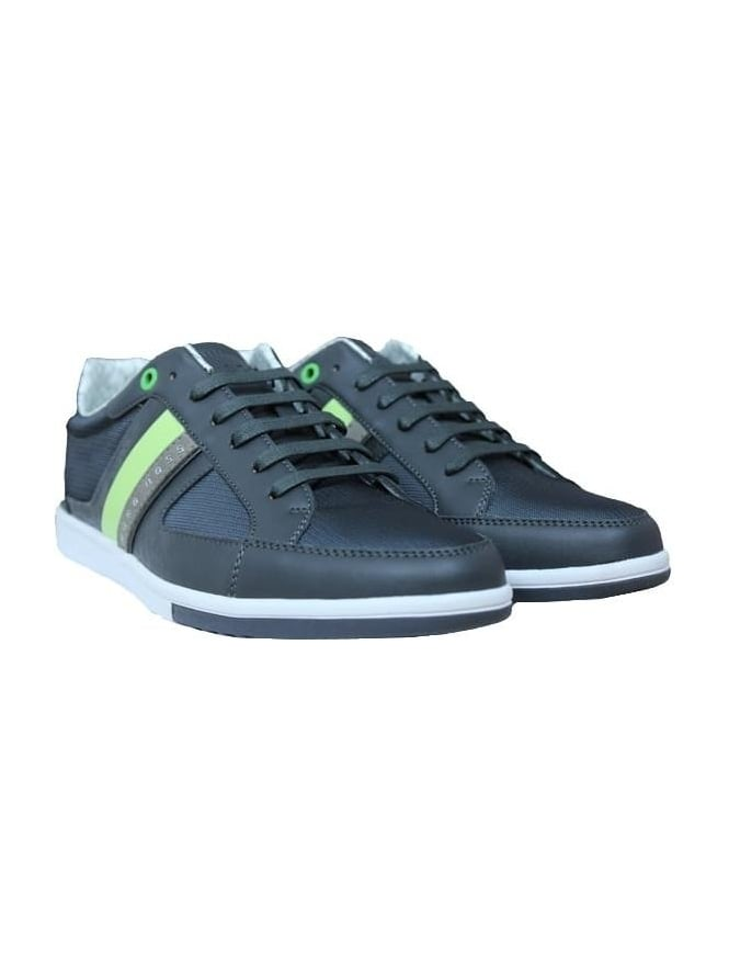 HUGO BOSS - BOSS Green Metro Tenn Trainer - Dark Grey