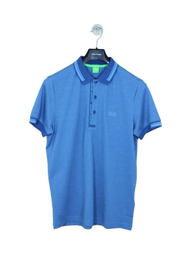 HUGO BOSS - BOSS Green Paule 4 Polo - Open Blue