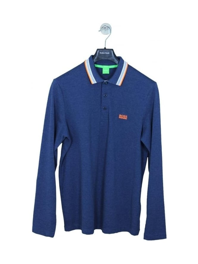 HUGO BOSS - BOSS Green Plissy Polo - Open Blue