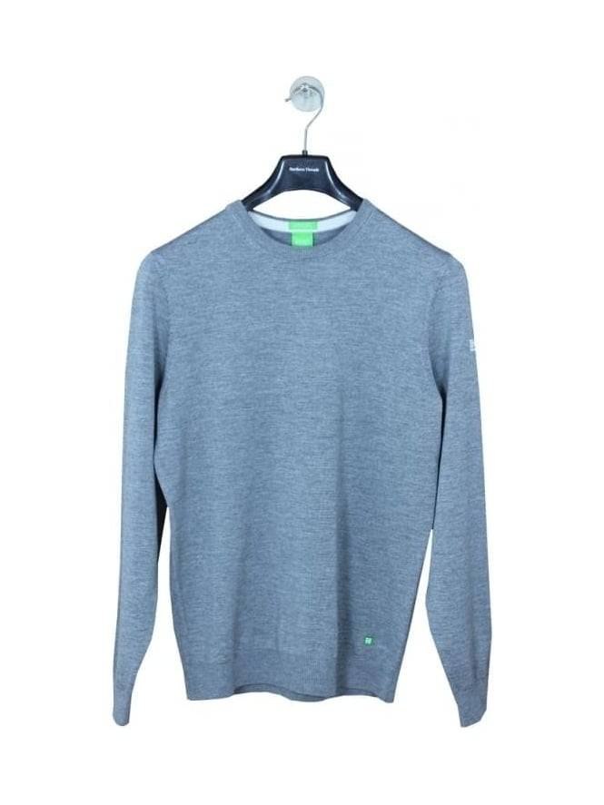 HUGO BOSS - BOSS Green Rando Merino Wool Crew Knit - Pastel Grey
