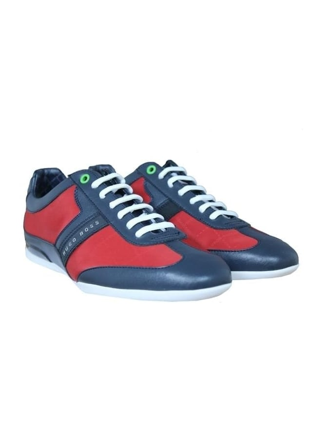 HUGO BOSS - BOSS Green Space Lowp Trainer - Medium Red