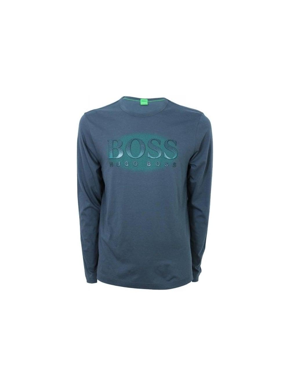 478bff44a Boss Green Togn 2 Long Sleeve T.Shirt in Dark Grey - Northern Threads