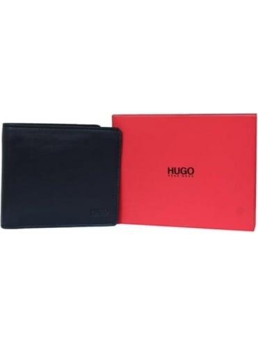 - HUGO Subway Leather Wallet - Black