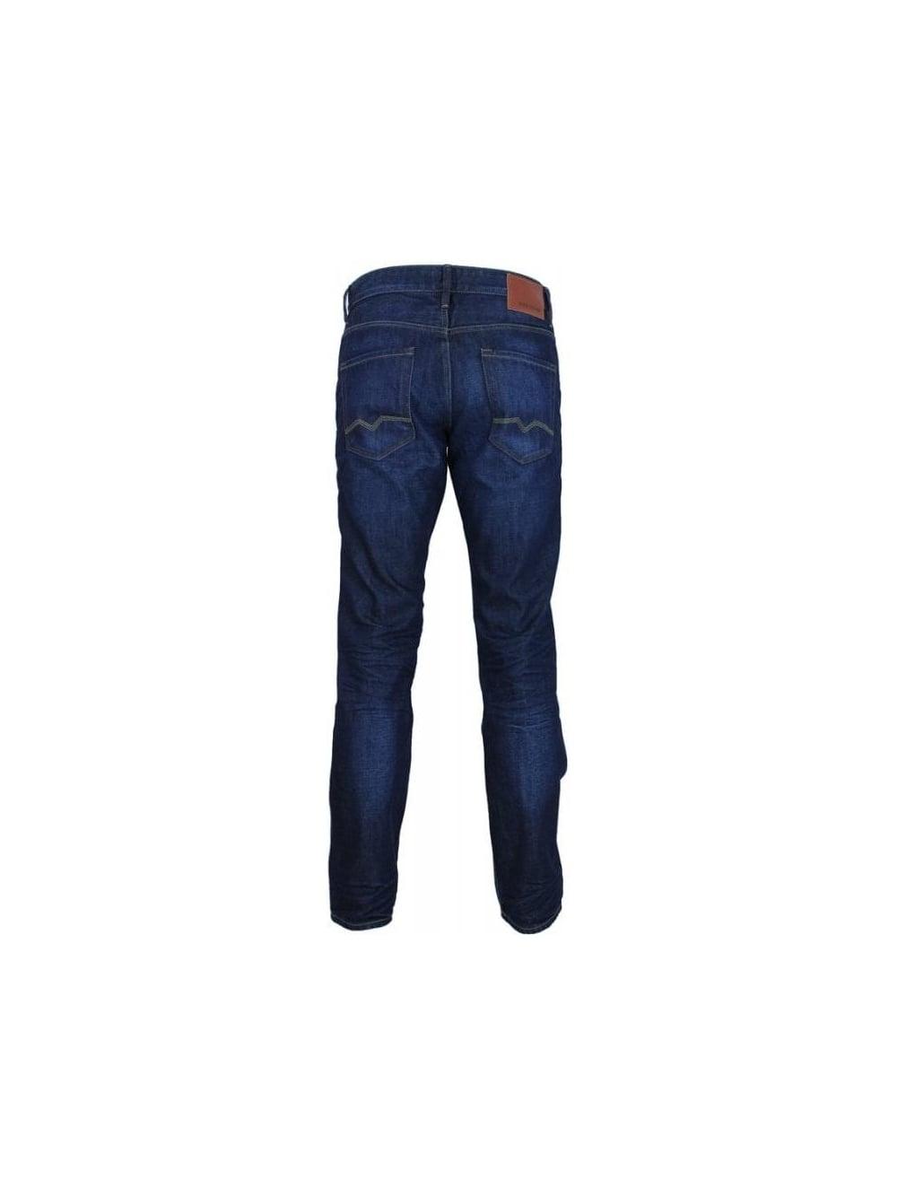 hugo boss orange 25 moonlight jeans in dark blue northern threads. Black Bedroom Furniture Sets. Home Design Ideas