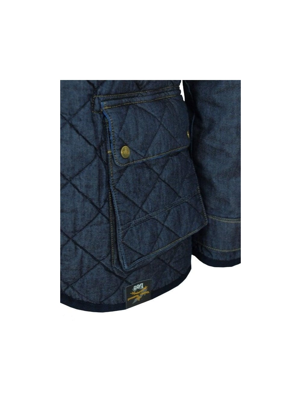 Vivienne Westwood Hunting Quilted Jacket In Rinse Blue Northern