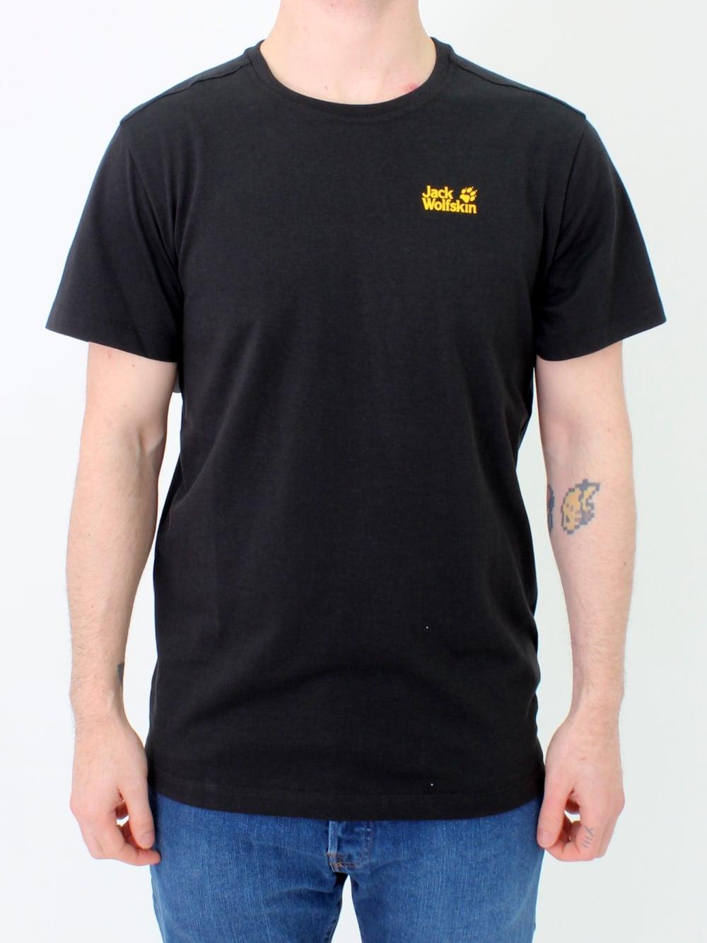 98ad34c3ce Jack Wolfskin Essential T.Shirt in Black   Northern Threads