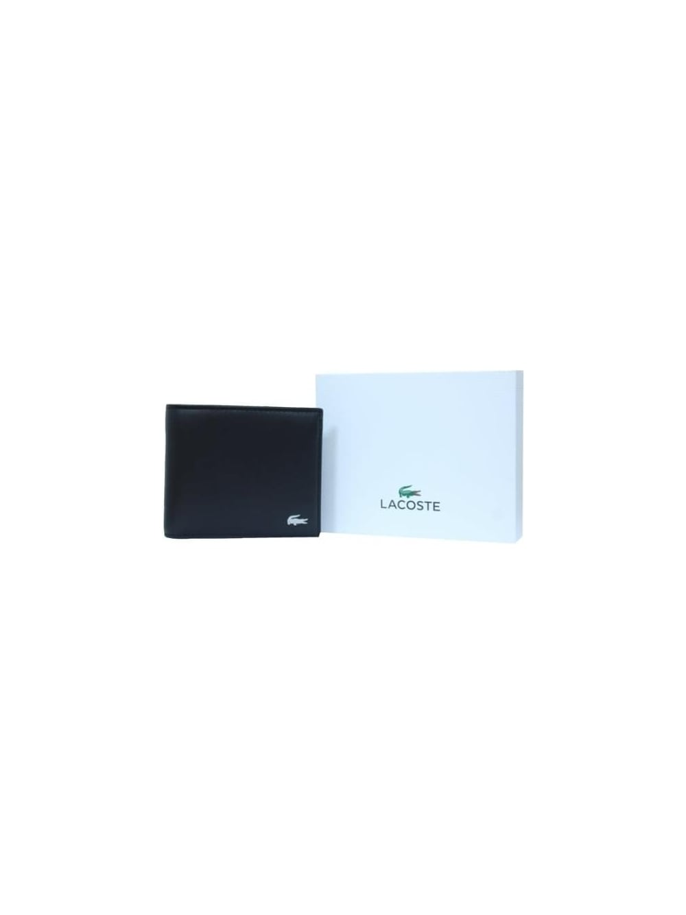 26c0f37d9f44 Lacoste Billfold   Coin Leather Wallet in Black - Northern Threads