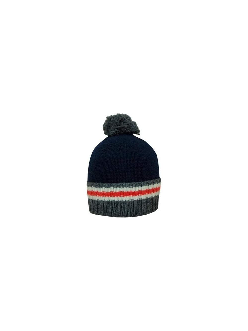 63bd2b13 Lacoste Bobble Hat in Navy/Grey - Northern Threads